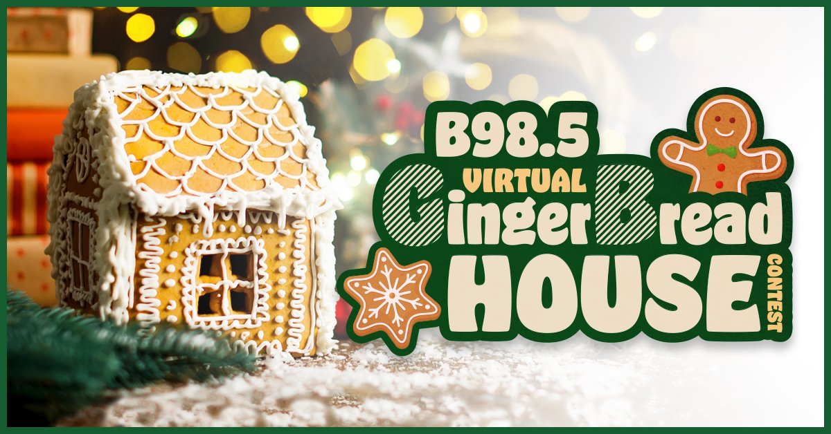 B98.5 Gingerbread House Contest with Mateo and Lenny!