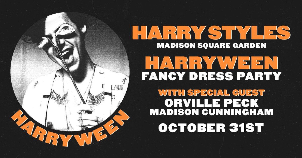 """Harry Styles """"HARRYWEEN"""" Fancy Dress Party w/ special guests Orville Peck and Madison Cunningham at Madison Square Garden in New York City – October 31st!"""